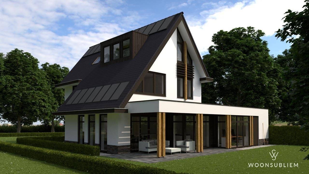 Villa asymmetrische kap Driebergen zonnepanelen