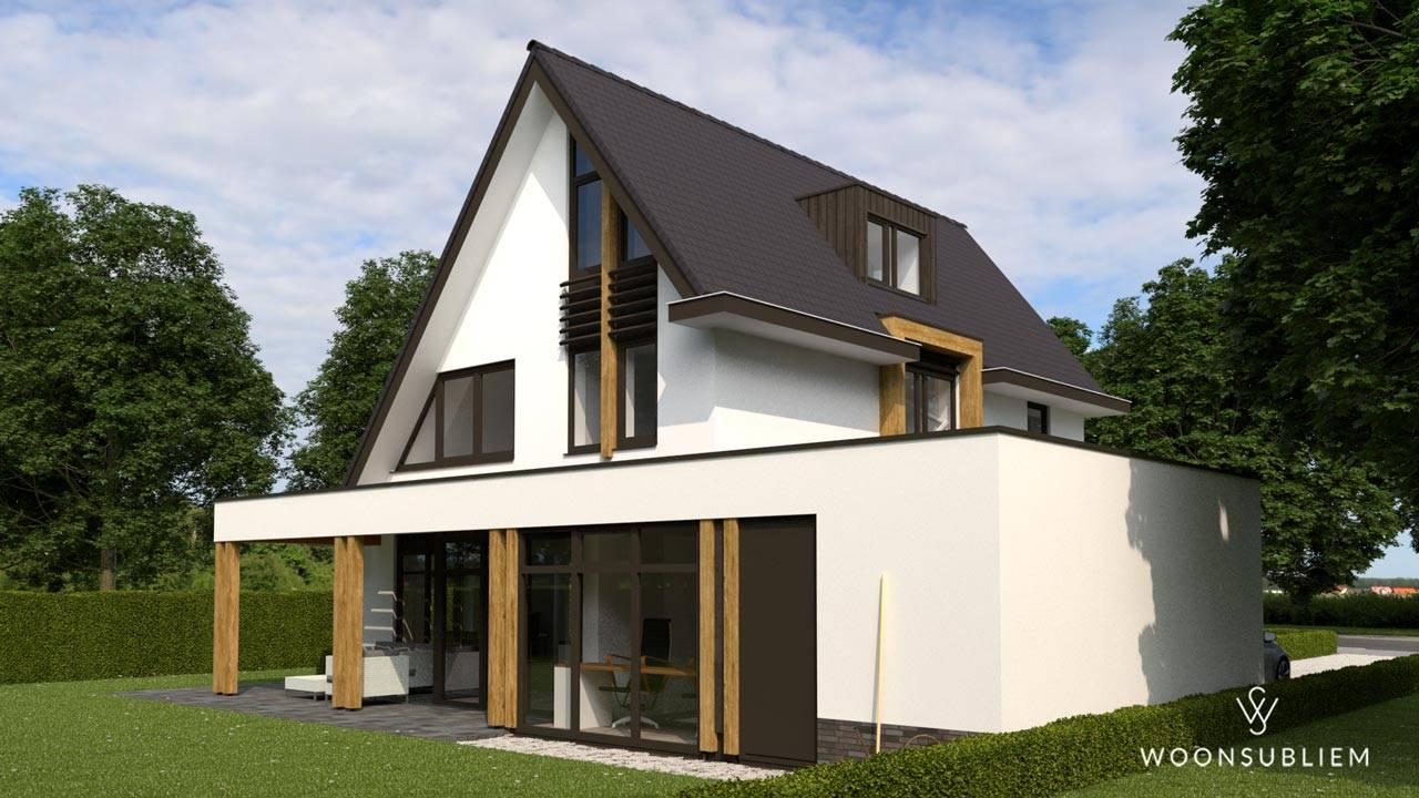 Villa asymmetrische kap Driebergen veranda