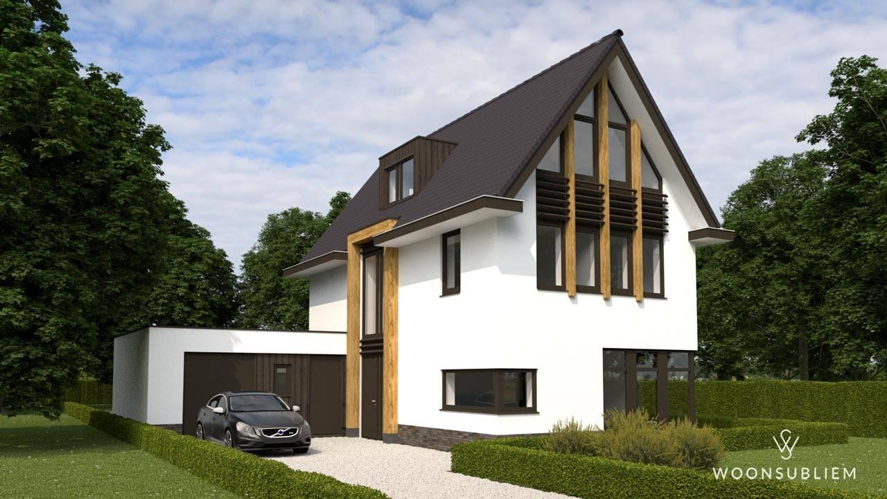Villa asymmetrische kap Driebergen studio aan huis
