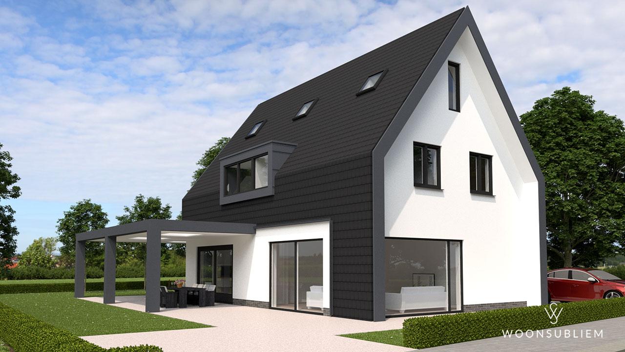 moderne woning zwart wit eigenzinnig