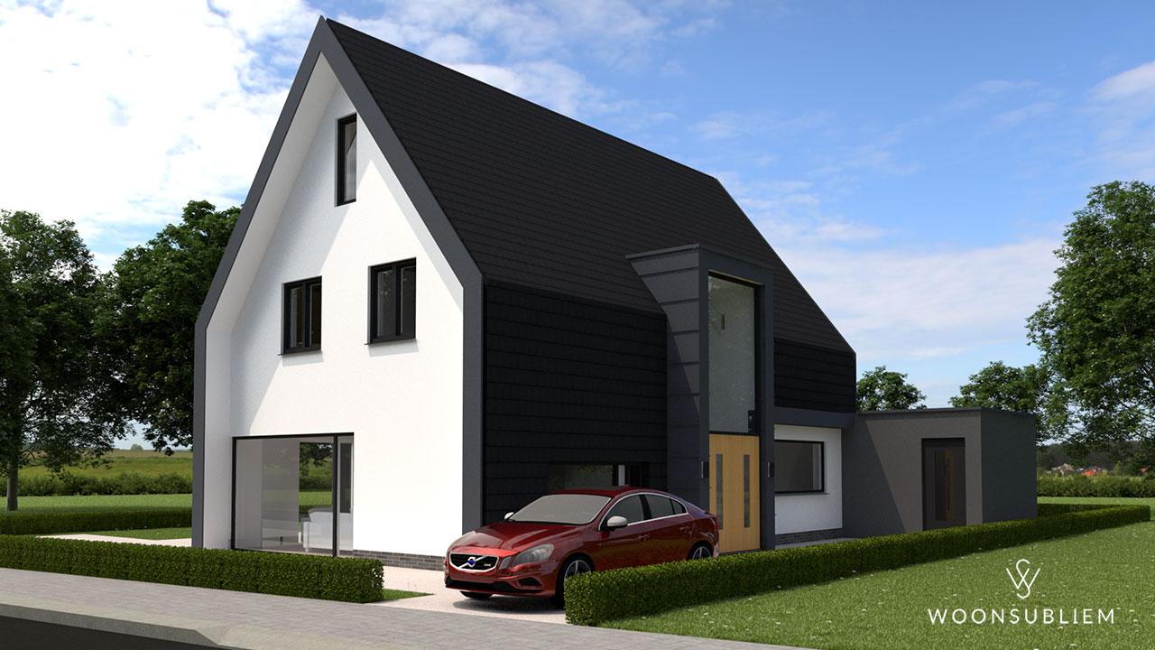 moderne woning zwart wit risaliet