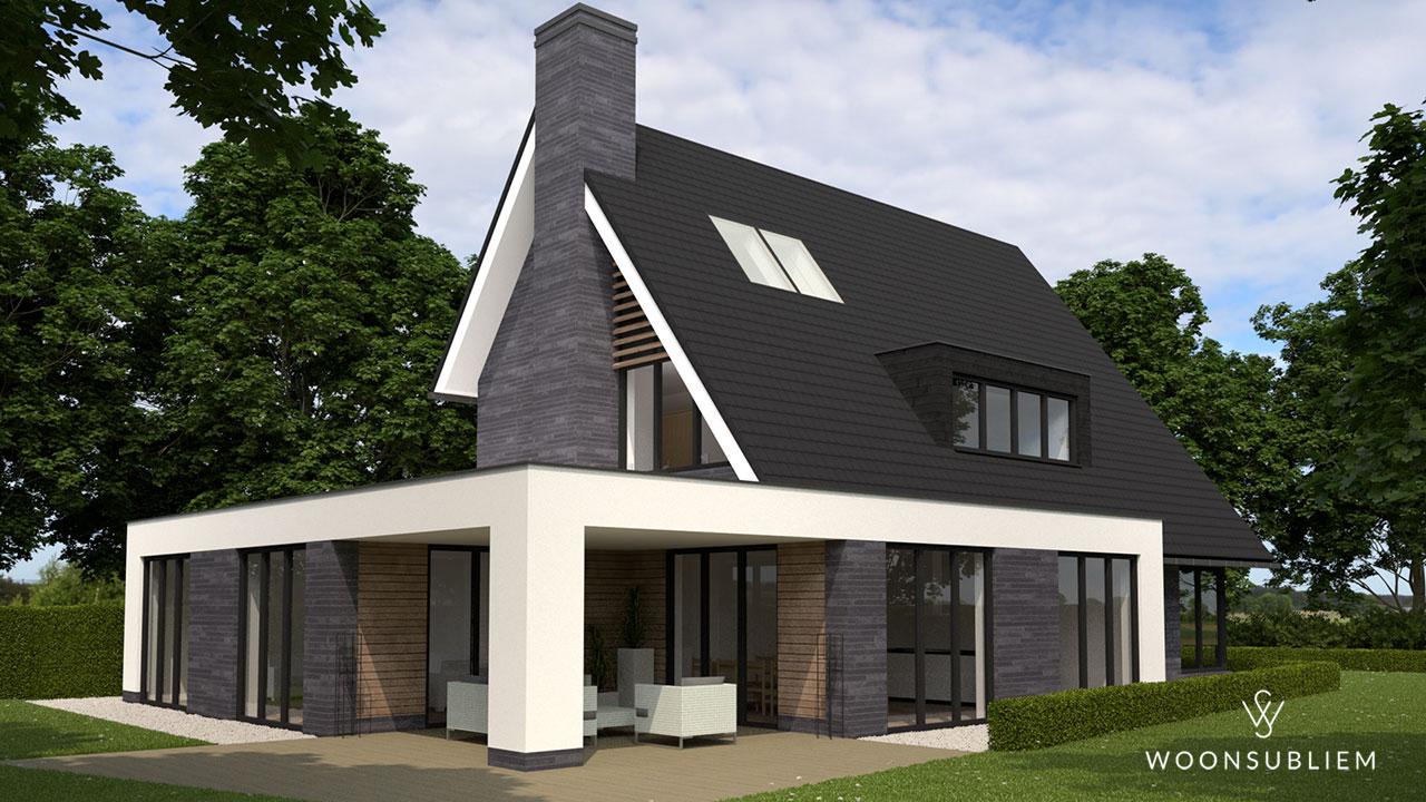 Villa met asymmetrische kap in Tynaarlo veranda 346