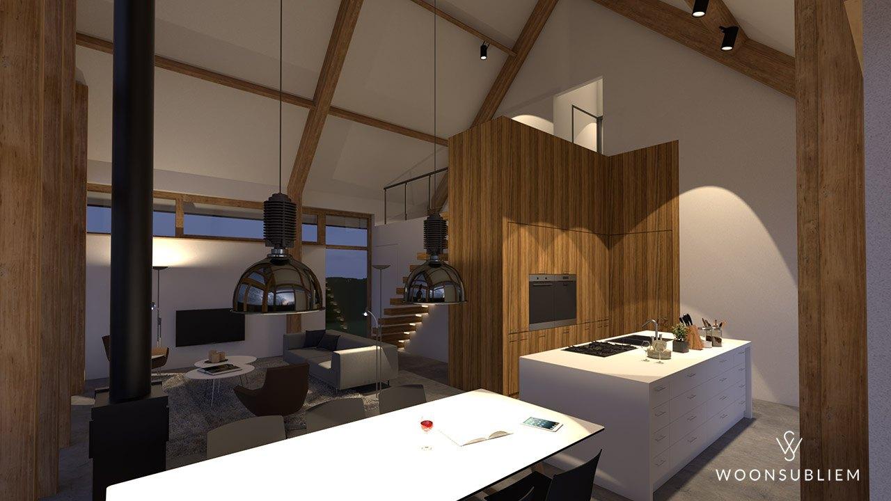 Eigenzinnige woning loft interieur