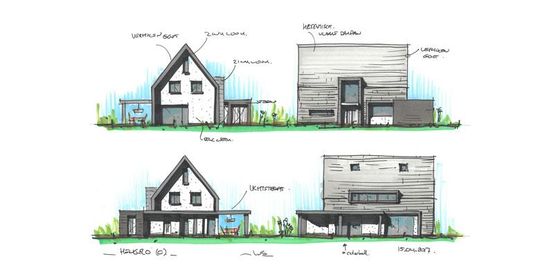 huis ontwerp schets
