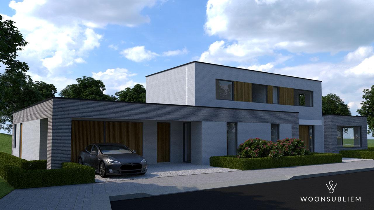 kubistische villa in Sneek vooraanzicht