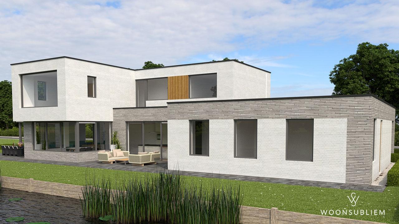 kubistische villa in Sneek rechtsvoor