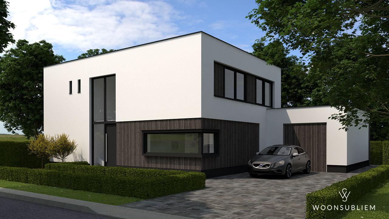 Moderne woning in Oosterhout straatkant