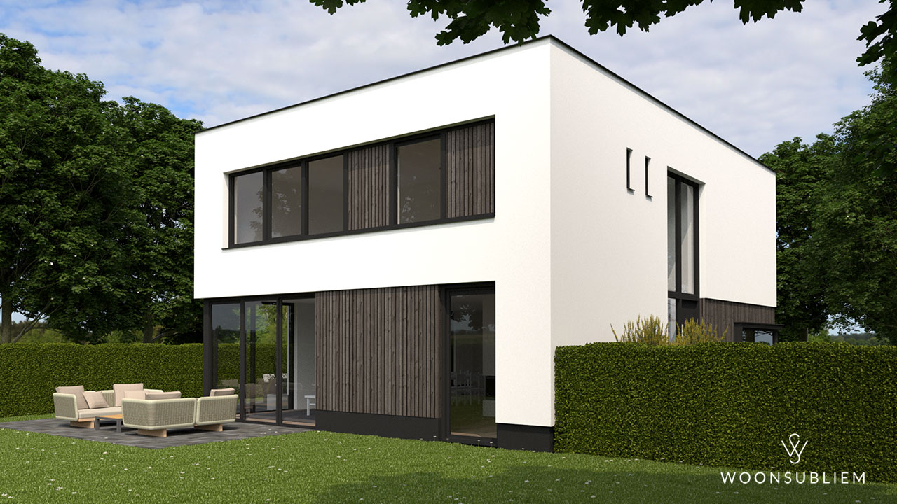 Moderne woning in Oosterhout tuin