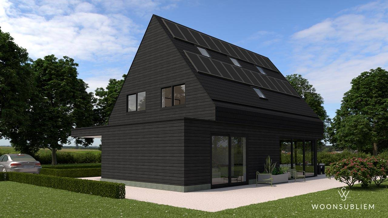 modern woningontwerp zwart tuinzijde