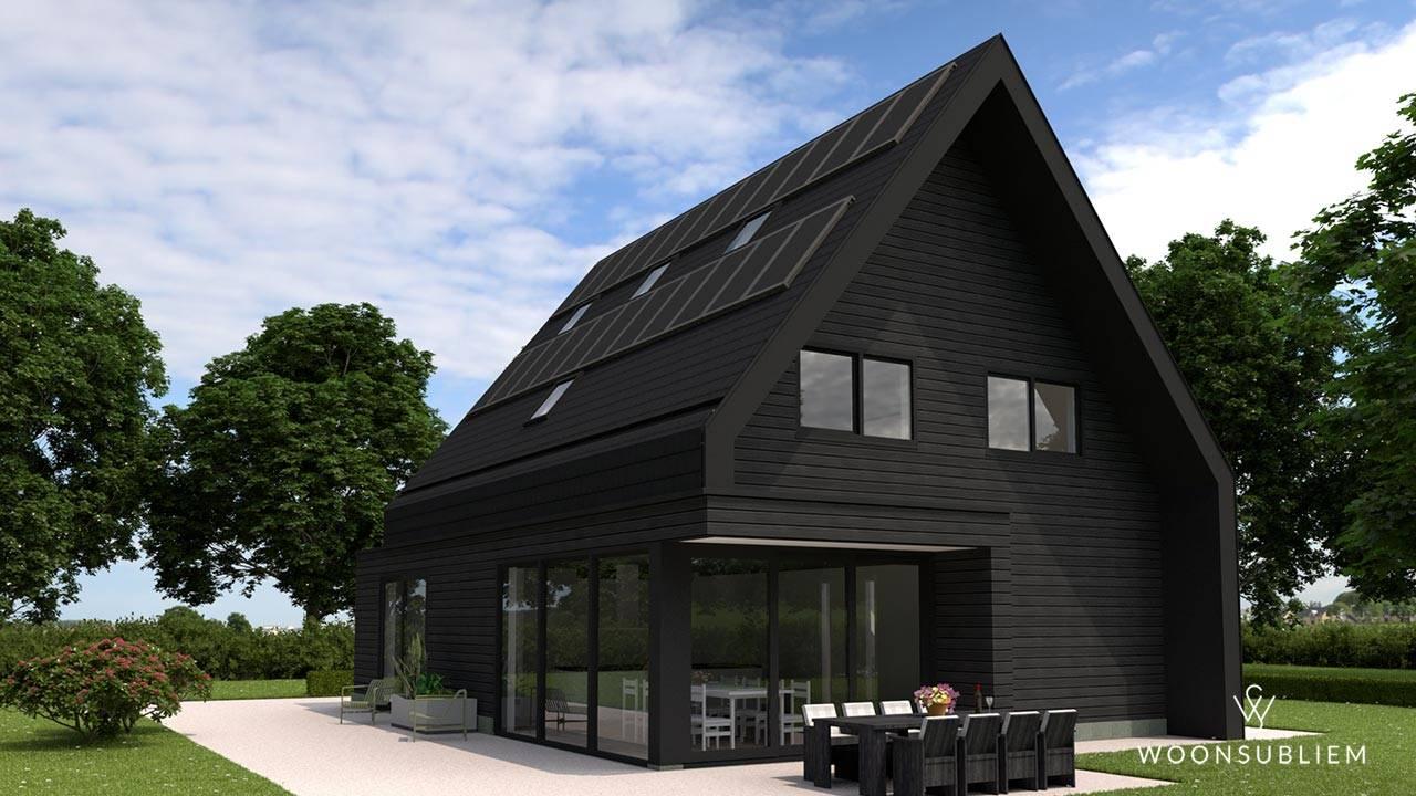 modern woningontwerp zwart