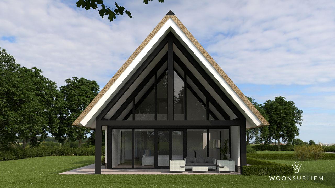 schuurwoning-risaliet-wit-stucwerk-rieten-kap-terras-houten-gebint