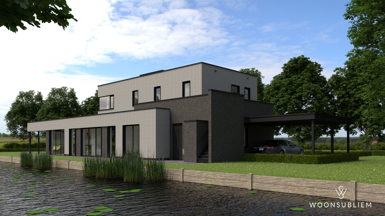 villa-aan-het-water-sneek-zijkant