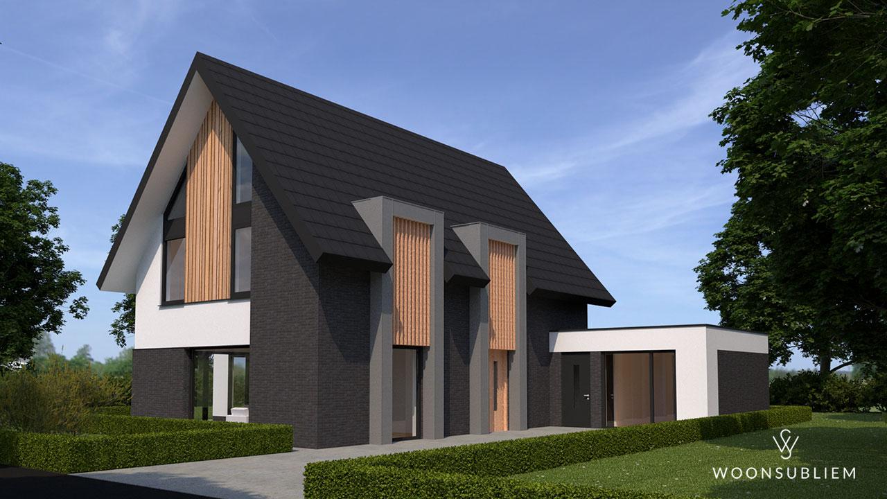 moderne villa dubbele risaliet