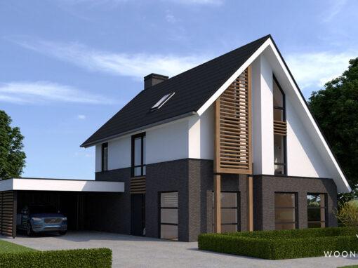 Villa met asymmetrische kap in Veenendaal #314