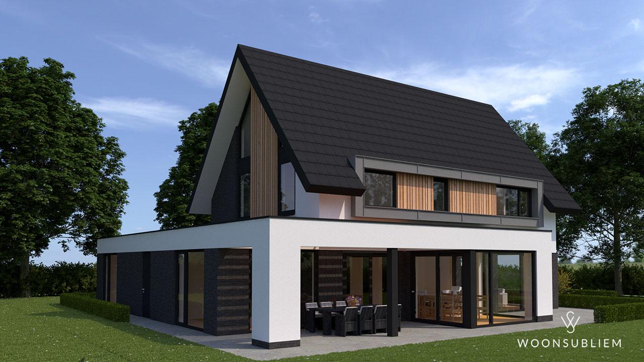 moderne villa met veranda