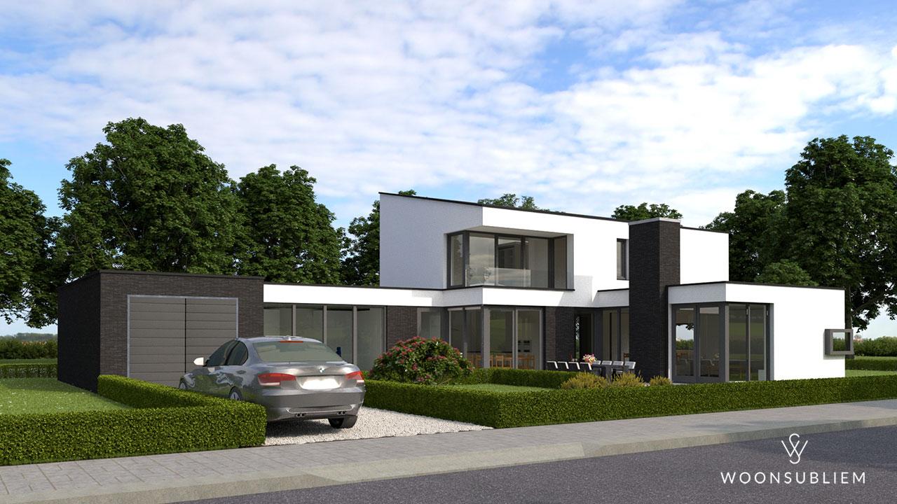villa-voorhout-voorkant-garage